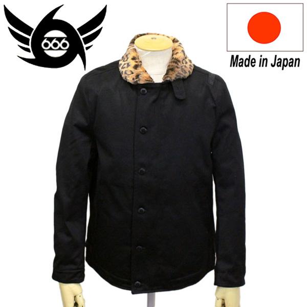 正規取扱店 666 ORIGINAL N-1 レパードデッキジャケット ブラック SOJ0027