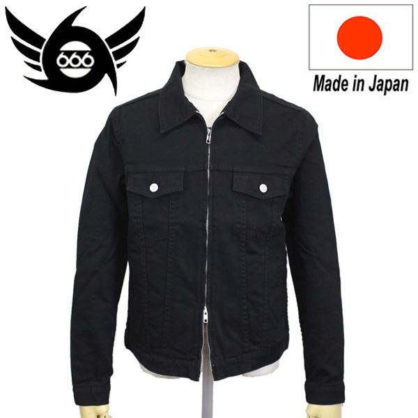 正規取扱店 666 ORIGINAL ZIP JEAN JACKET ジップジーンジャケット ブラック SOJ157