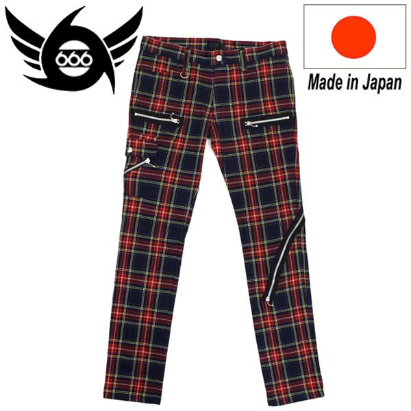 正規取扱店 666 ORIGINAL Army Zip Jeans アーミージップジーンズ ネイビータータン SOP0009