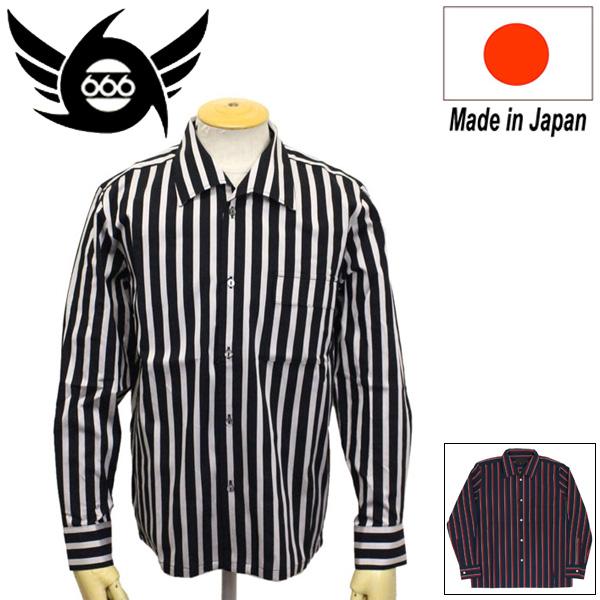 正規取扱店 666 ORIGINAL 1977 イタリアンカラーシャツ L/S 長袖 SOS0020