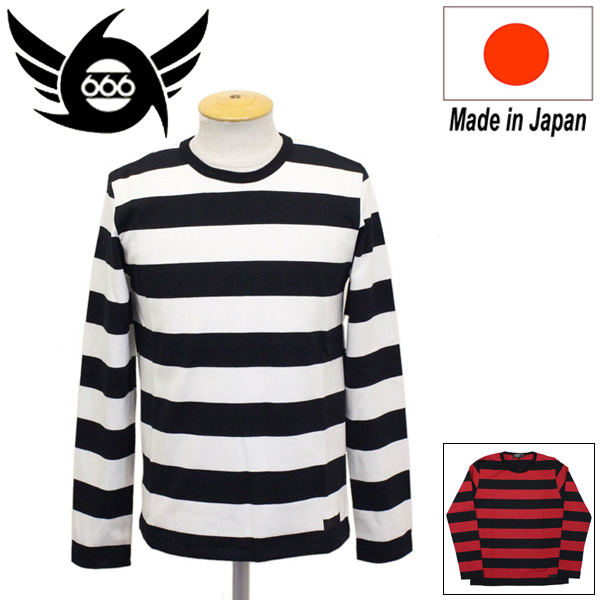 正規取扱店 666 ORIGINAL ボーダーTシャツ L/S 長袖 SOT0010 全2色