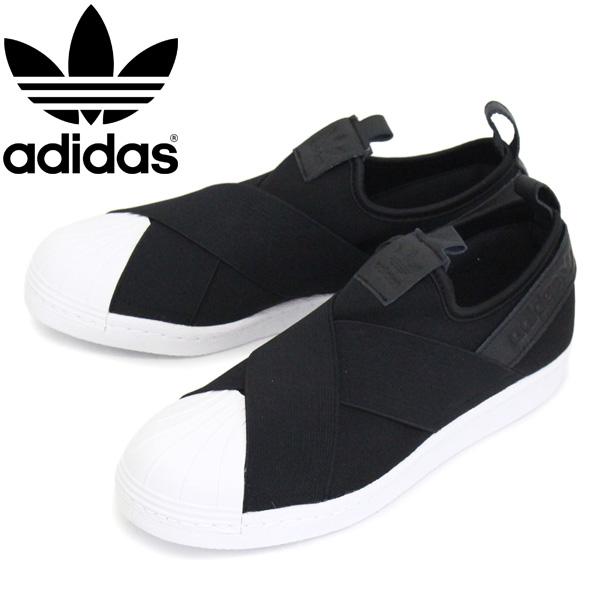 正規取扱店 adidas (アディダス) BZ0112 SS Slip On スーパースター スリッポン スニーカー コアブラック AD021
