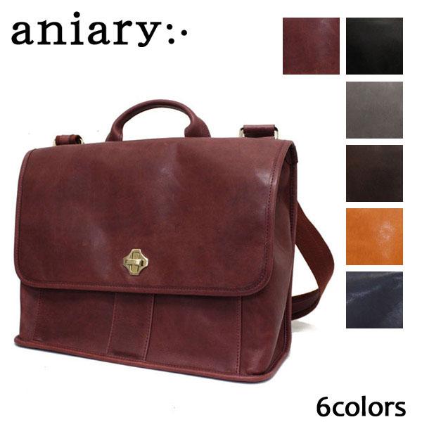 正規取扱店 aniary(アニアリ アニアリー) 02-04000 アイディアルレザー メッセンジャーバッグ 全6色 AN053