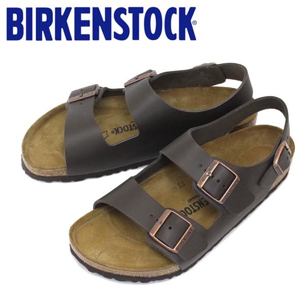 正規取扱店 BIRKENSTOCK (ビルケンシュトック) MILANO (ミラノ) スムースレザー サンダル レギュラー(幅広) ダークブラウン BI060