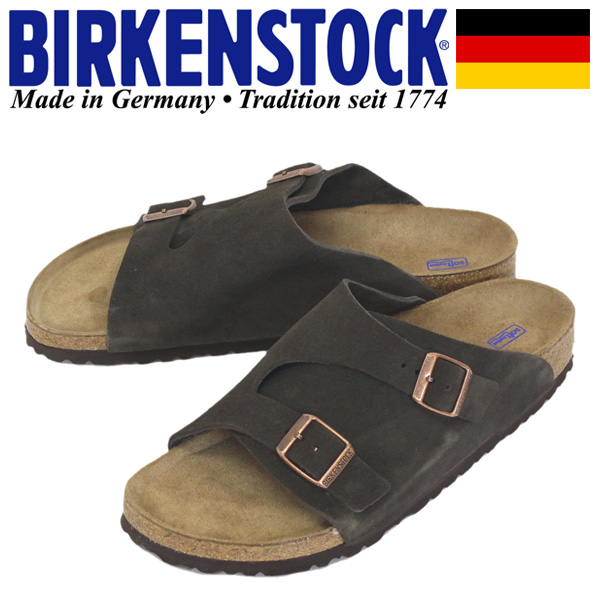 正規取扱店 BIRKENSTOCK (ビルケンシュトック) GC1009531 SFB チューリッヒ スエードレザー サンダル ナロー(幅狭) MOCCA BI097