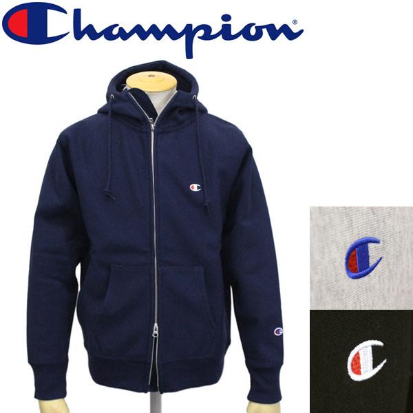 正規取扱店 Champion (チャンピオン) C3-L109 ReverseWeave STORMSHELL ZIP HOODED SWEAT ストームシェル ジップフーデッドスウェットシャツ 全3色 CN014