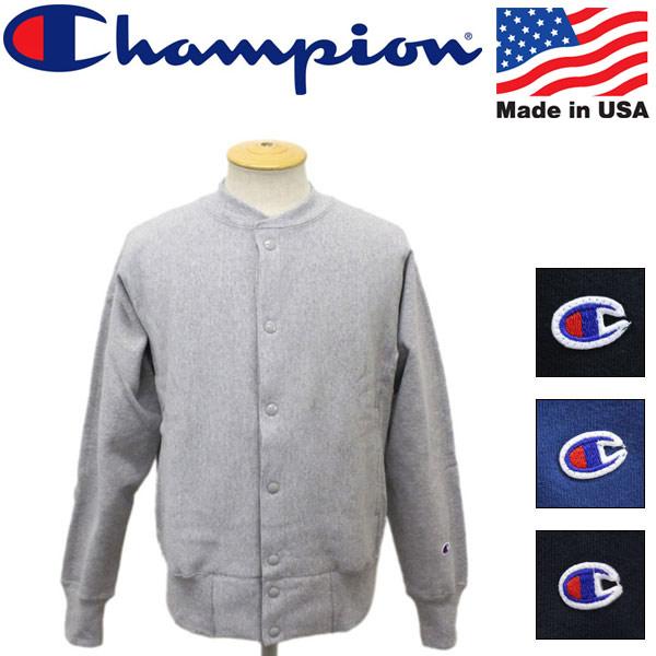 正規取扱店 Champion (チャンピオン) C5-E002 Reverse Weave SNAP SWEAT SHIRT (リバースウィーブ スナップスウェット シャツ) アメリカ製 全4色 CN001