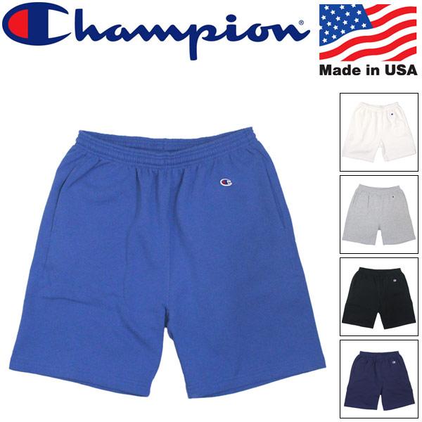 正規取扱店 Champion (チャンピオン) C5-R501 SWEAT SHORT PANT スウェット ショートパンツ アメリカ製 全4色 CN040