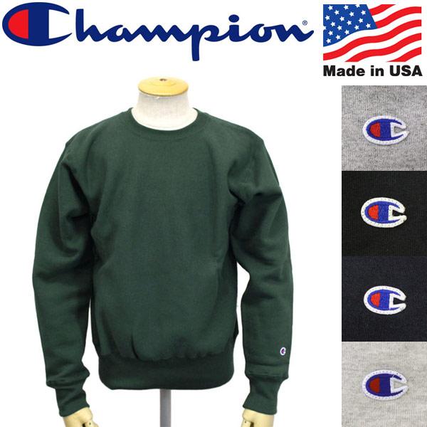 正規取扱店 Champion (チャンピオン) C5-U001 ReverseWeave SWEAT SHIRT クルーネック スウェットシャツ 全5色 CN017