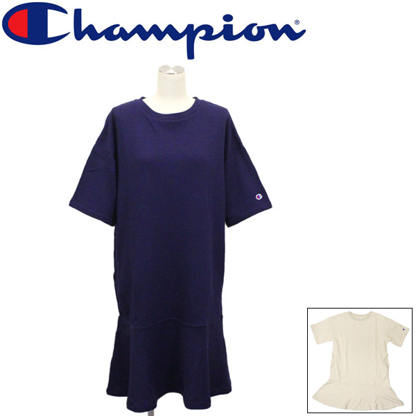 正規取扱店 Champion (チャンピオン) CW-R010 SWEAT ONEPIECE レディース スウェット ワンピース 全2色 CN041