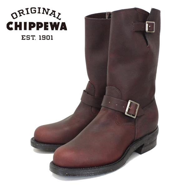 正規取扱店 CHIPPEWA チペワ 1940 11inch ORIGINAL ENGINEER BOOTS プレーントゥ エンジニアブーツ BURGUNDY