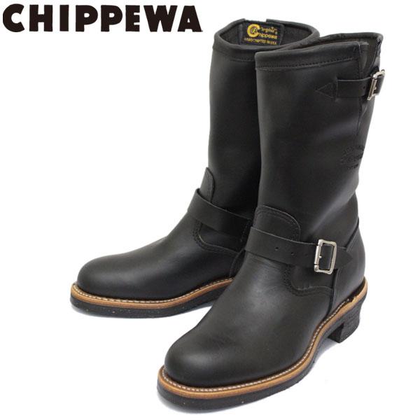 正規取扱店 CHIPPEWA (チペワ) 1901M48 11inch ORIGINAL ENGINEER BOOTS 11インチ プレーントゥ エンジニアブーツ BLACK