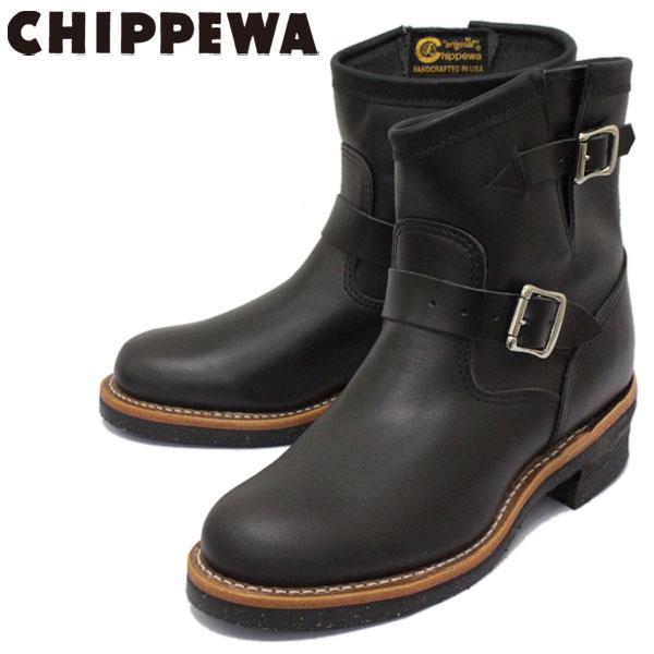 正規取扱店 CHIPPEWA (チペワ) 1901M51 7inch ORIGINAL ENGINEER BOOTS 7インチ プレーントゥ エンジニアブーツ BLACK