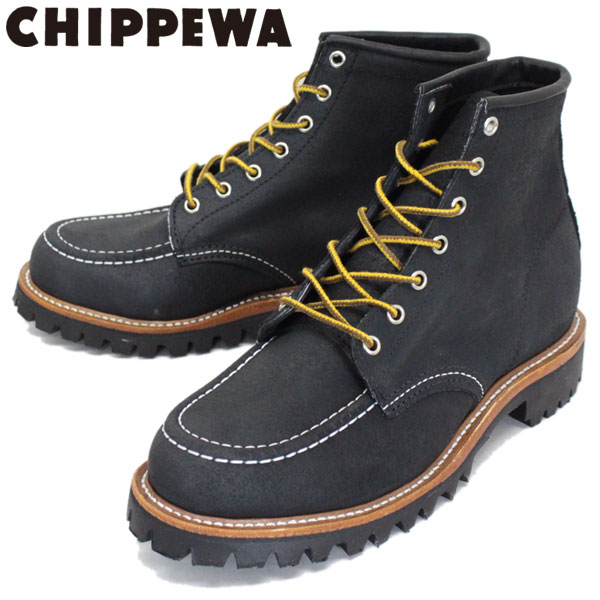 正規取扱店 CHIPPEWA (チペワ) 1901M62 6inch MOC TOE LUGGED FIELD BOOTS 6インチ モックトゥ ラギッドフィールドブーツ BLACK