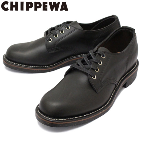 正規取扱店 CHIPPEWA (チペワ) 1901M73 4inch SERVICE OXFORDS 4インチ プレーントゥ オックスフォード BLACK