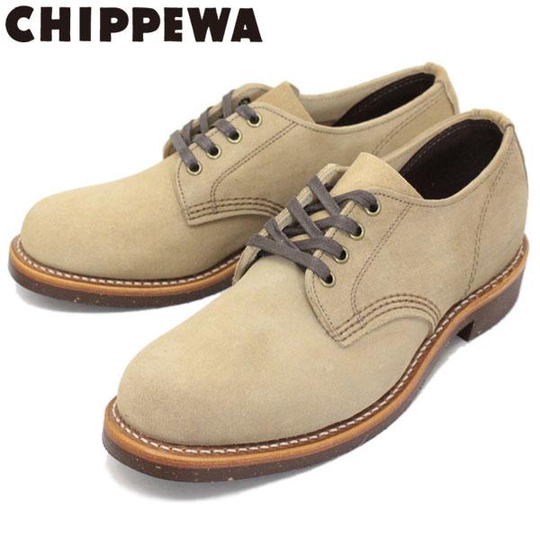 正規取扱店 CHIPPEWA (チペワ) 1901M77 4inch SUEDE SERVICE OXFORDS 4インチ プレーントゥ スウェードサービスオックスフォード KHAKI