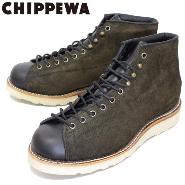 正規取扱店 CHIPPEWA (チペワ) 1901M79 5inch TWO-TONE SUEDE BRIDGEMEN 5インチ ツートーン スウェードブリッジマン レーストゥトゥブーツ CHOCOLATE MOSS/BLACK