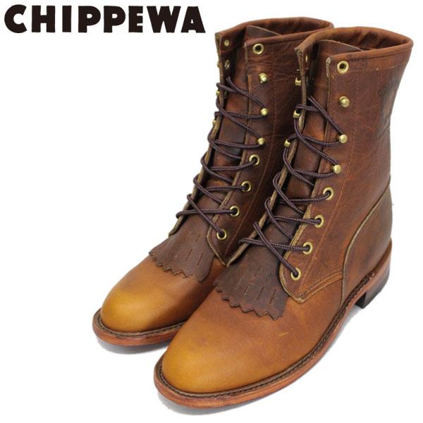 正規取扱店 CHIPPEWA (チペワ) 1901W65 Women's 8inch Lacer(8インチレーサー レースアップセミドレスブーツ) レディース Tan