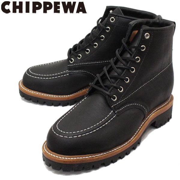 正規取扱店 CHIPPEWA (チペワ) 1975 6inch ORIGINAL INSULATED TREKKER BOOTS 6インチ モックトゥ インシュレーテッド トレッカーブーツ BLACK