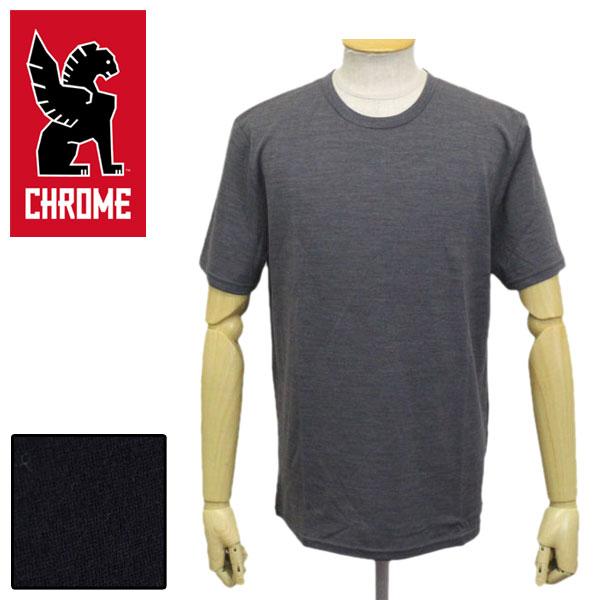 正規取扱店 CHROME (クローム クロム) AP415 MERINO SS TEE-M'S メリノティー Tシャツ 全2色 CH218
