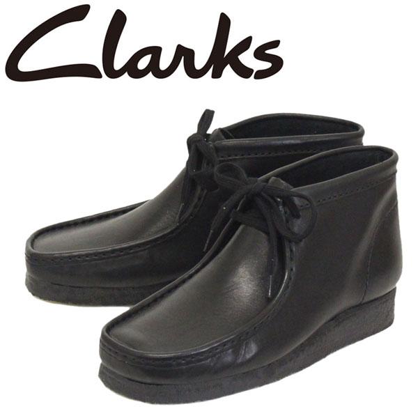 正規取扱店 Clarks (クラークス) 26103666 Wallabee ワラビー メンズ レザーブーツ BLACK CL014