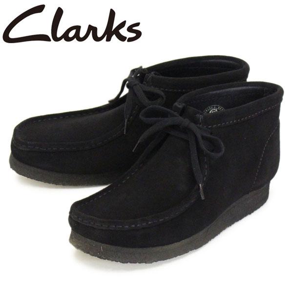 正規取扱店 Clarks (クラークス) 26133281 Wallabee Boot ワラビーブーツ メンズブーツ Black Suede CL003