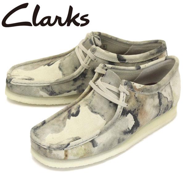 正規取扱店 Clarks (クラークス) 26148590 Wallabee ワラビー メンズ シューズ Off White Camo CL015
