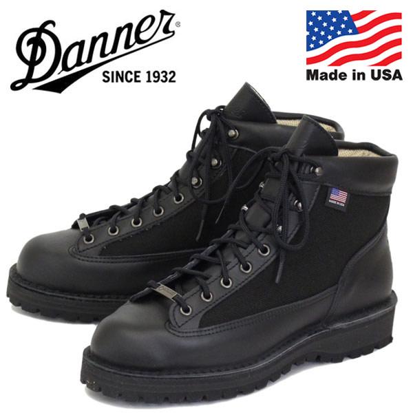 正規取扱店 DANNER (ダナー) 30465 DANNER LIGHT (ダナーライト) ブーツ アメリカ製 BLACK