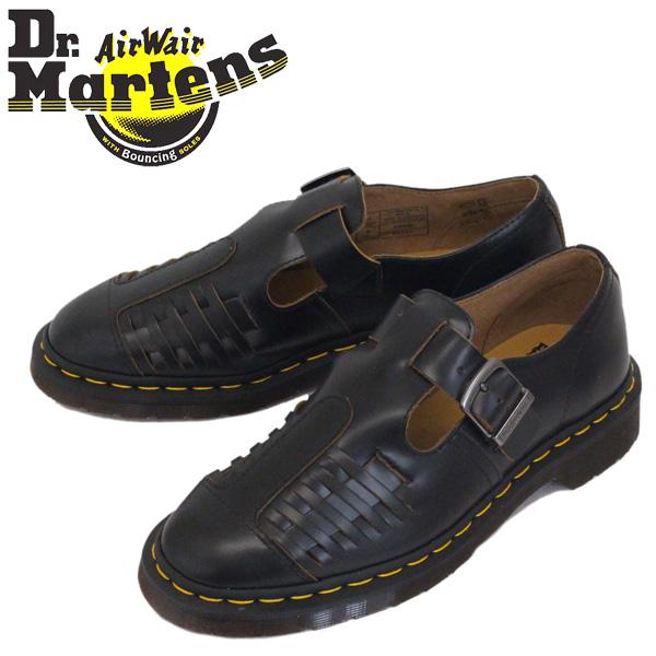 正規取扱店 Dr.Martens (ドクターマーチン) 24551001 MICA ミカ ストラップ レザーシューズ BLACK