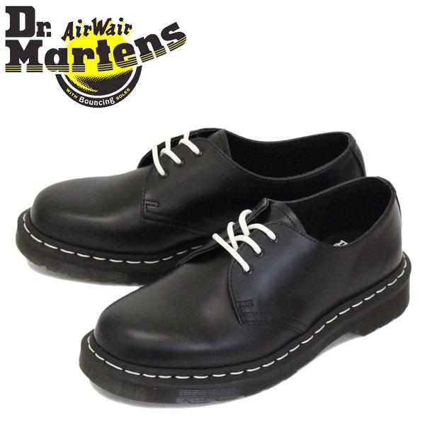 正規取扱店 Dr.Martens (ドクターマーチン) 24757001 1461 WS 3ホール レザーシューズ ホワイトステッチ BLACK