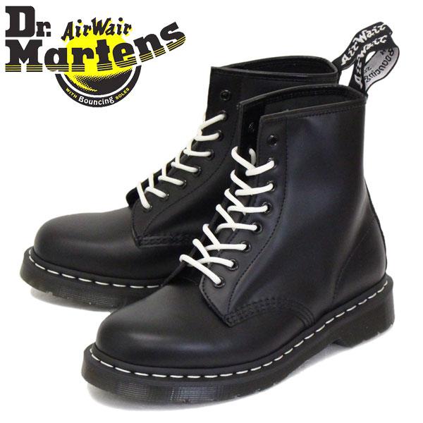 正規取扱店 Dr.Martens (ドクターマーチン) 24758001 1460Z 8ホール レザーブーツ ホワイトステッチ BLACK
