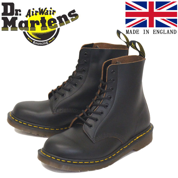 正規取扱店 Dr.Martens (ドクターマーチン) 12308001 VINTAGE 1460 8EYE SHOE ヴィンテージ レザーブーツ BLACK イングランド製