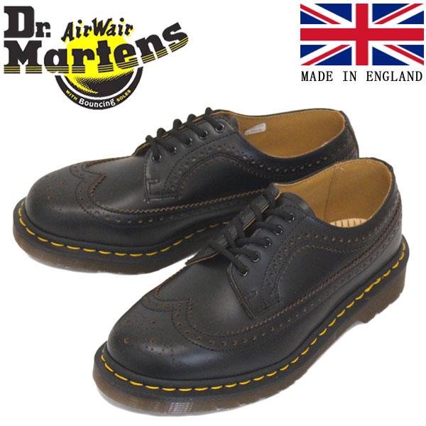 正規取扱店 Dr.Martens (ドクターマーチン) 22853001 VINTAGE 3989 BROGUE SHOE 5EYE ヴィンテージ ブローグ レザーシューズ BLACK イングランド製