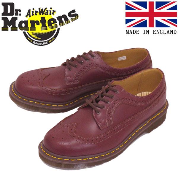 正規取扱店 Dr.Martens (ドクターマーチン) 22853601 VINTAGE 3989 BROGUE SHOE 5EYE ヴィンテージ ブローグ レザーシューズ OXBLOOD イングランド製