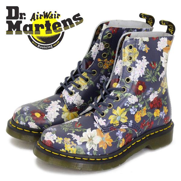 正規取扱店 Dr.Martens (ドクターマーチン) WMS CORE 1460 DARCY FLORAL レディース 8ホールシューズ DMS NAVY BACKHAND STRAW GRAIN