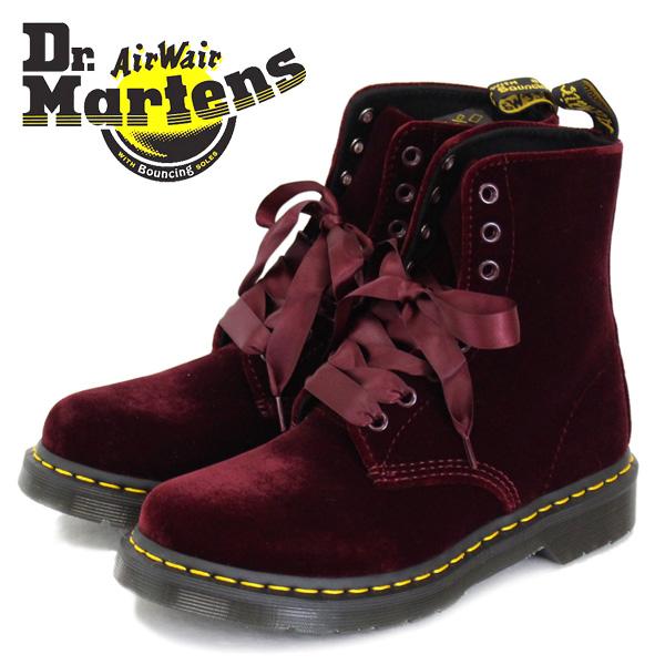 正規取扱店 Dr.Martens (ドクターマーチン) WMS CORE 1460 PASCAL レディース 8ホールシューズ CHERRY RED ZE YOU VELVET