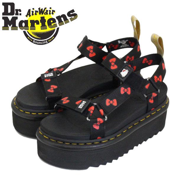 正規取扱店 Dr.Martens (ドクターマーチン) WMS 25914002 VEGAN HELLO KITTY SANDAL ハローキティー コラボ レディース サンダル BLACK