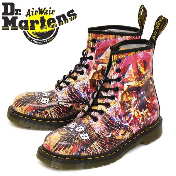 正規取扱店 Dr.Martens (ドクターマーチン) 25918102 1460 CBGB X OMFUG 8ホール レザーブーツ MULTI