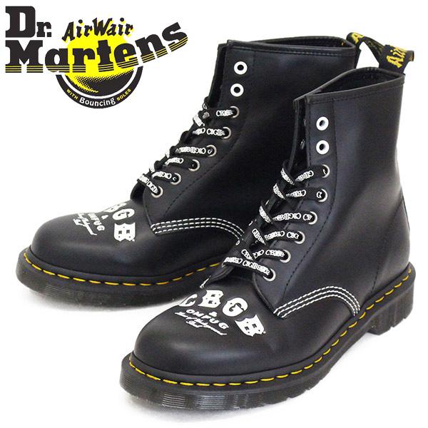 正規取扱店 Dr.Martens (ドクターマーチン) 25919001 1460 CBGB X OMFUG 8ホール レザーブーツ BLACK