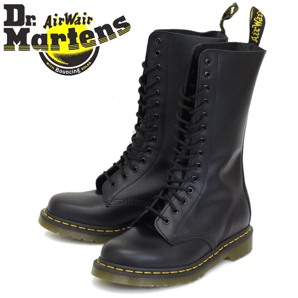 正規取扱店 Dr.Martens (ドクターマーチン) 1914Z DMS 14ホールブーツ BLACK SMOOTH