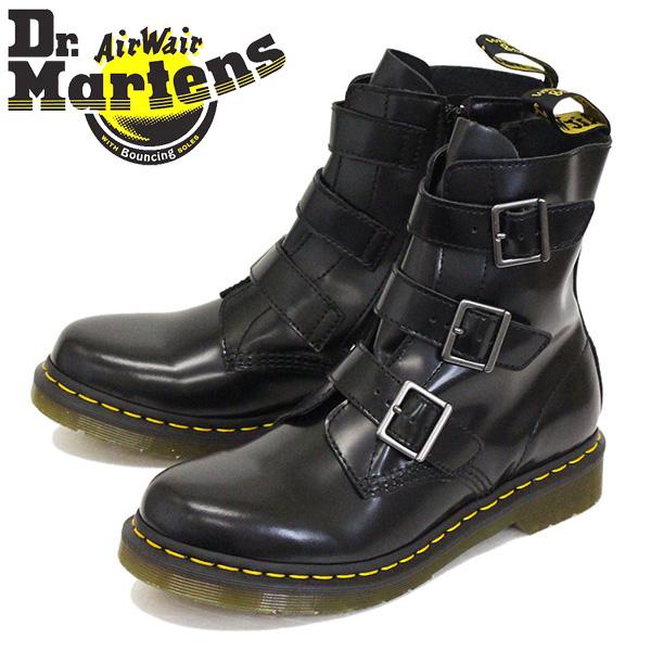正規取扱店 Dr.Martens (ドクターマーチン) 13665001 BLAKE ブレイク 3バックル サイドジップ レザーブーツ BLACK