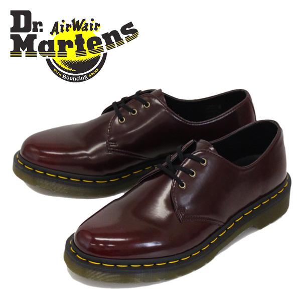 Regular dealer Dr.Martens (doctor Martin) 1461 VEGAN Vee cancer leather 3  hall shoes CHERRY RED CAMBRIDGE BRUSH 608690f0ee2d
