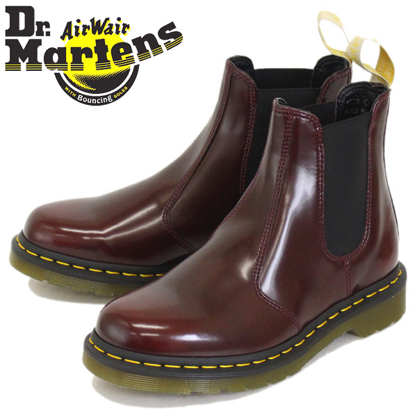 2c37973bb91 Regular dealer Dr.Martens (doctor Martin) VEGAN 2976 Vee cancer leather  Chelsea side Gore boots CHERRY RED CAMBRIDGE BRUSH