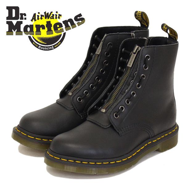 正規取扱店 Dr.Martens (ドクターマーチン) WMS CORE 1460 PASCAL FRNT ZIP パスカル フロントジップ レディース 8ホールブーツ BLACK NAPPA