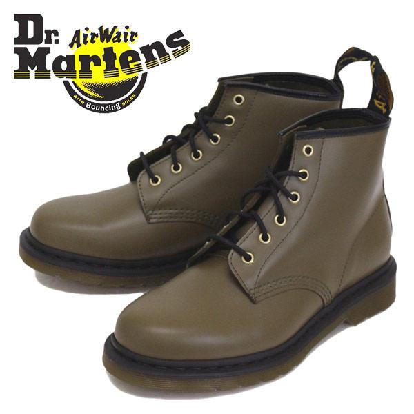 正規取扱店 Dr.Martens (ドクターマーチン) CORE 101 6ホール ブーツ OLIVE SMOOTH