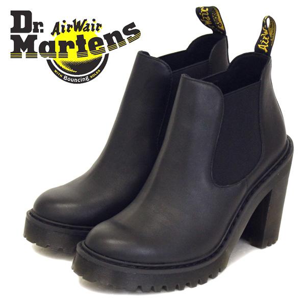 正規取扱店 Dr.Martens (ドクターマーチン) WMS SEIRENE HURSTON ハーストン レディース チェルシーチャンキーヒールブーツ BLACK SENDAL