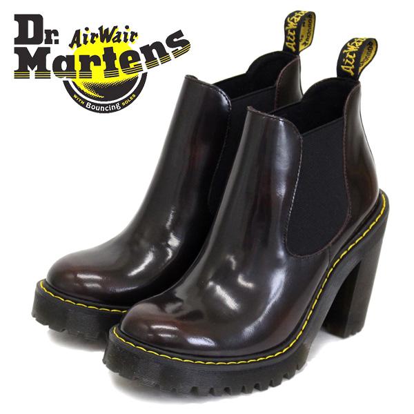 正規取扱店 Dr.Martens (ドクターマーチン) WMS SEIRENE HURSTON ハーストン レディース チェルシーチャンキーヒールブーツ CHERRY RED ARCADIA