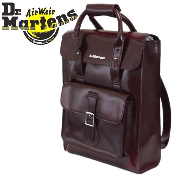 正規取扱店 Dr.Martens (ドクターマーチン) AB094601 Small VEGAN Leather Satchel Bag スモールヴィーガンレザーバックパック CHERRY RED CAMBRIDGE BRUSH