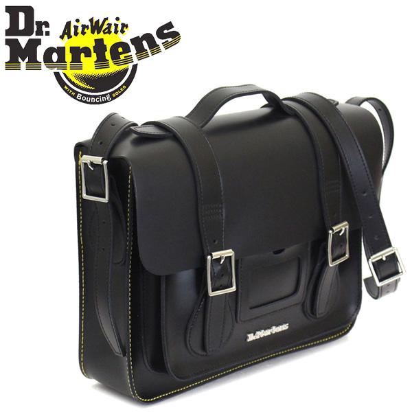 正規取扱店 Dr.Martens (ドクターマーチン) AB096001 13インチ Leather Satchel Bag レザーサッチェルバッグ BLACK KIEV