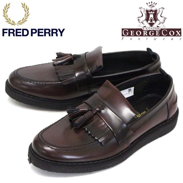 正規取扱店 FRED PERRY (フレッドペリー) x GEORGE COX (ジョージコックス) Wネーム B9278 TASSEL LOAFER タッセルローファー レザーシューズ 158 OX BLOOD FP372